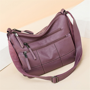Image 2 - ホット高級ハンドバッグの女性のデザイナーソフト本革レディースハンドバッグ女性のためのクロスボディバッグ 2020 メッセンジャーバッグメイン