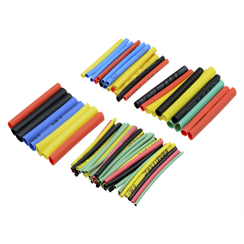 328Pcs Polyolefin Car Electrical Cable Tube Kits Heat Shrink Tubing Sleeve Wrap Wire Assorted 8 Sizes Mixed Color 2:1 Polyolefin