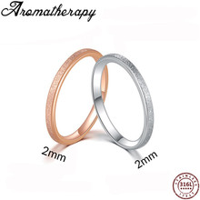 Simple sandy Stainless Steel Silver Ring Engagement Couple Rings Fashion Jewelry Womens Accessories Anillos Mujer