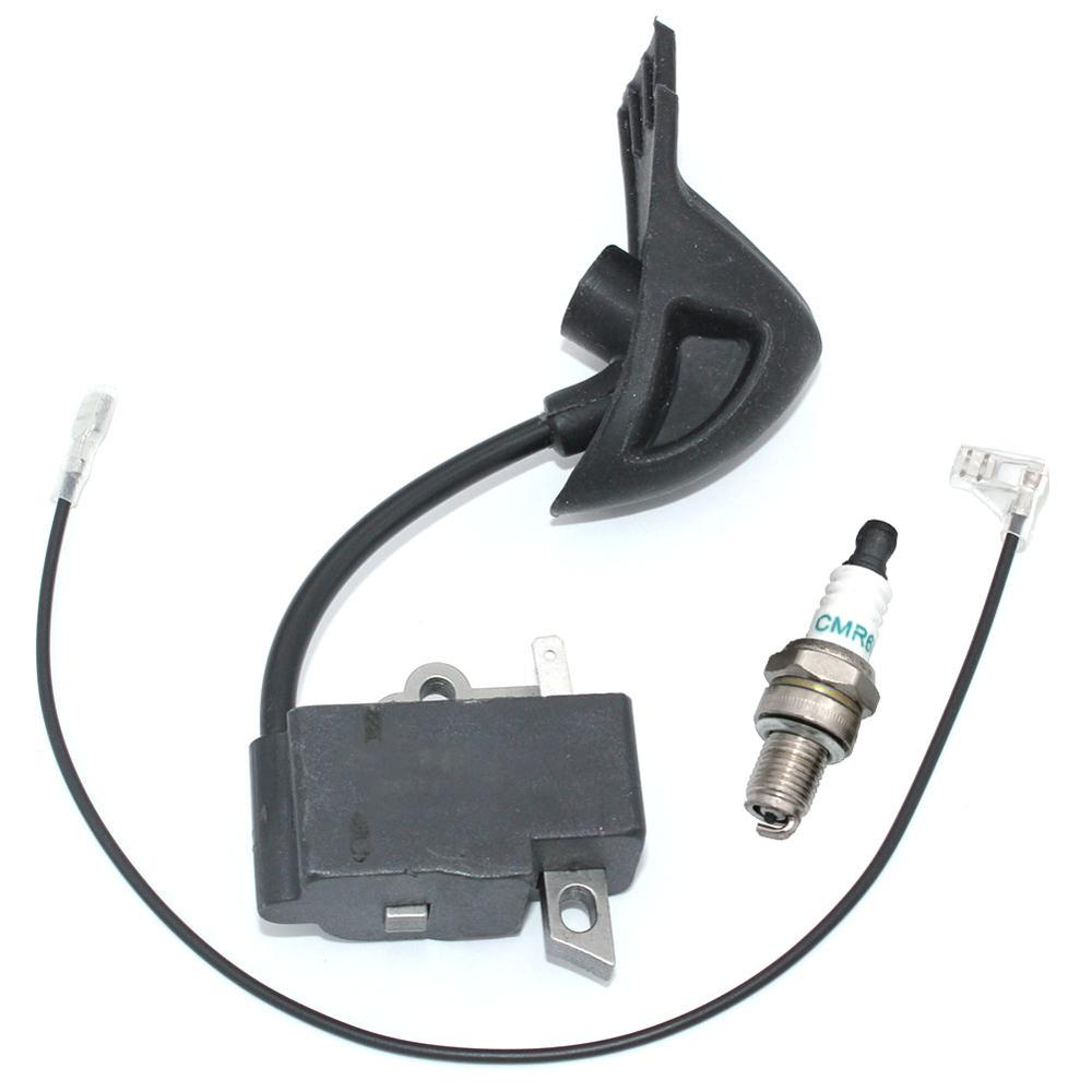 Ignition Coil Module With CMR6H Spark Plug For Stihl Leaf Blower BG56 BG86 BG86C Magneto Replacement Parts Oem#4241 1306 B