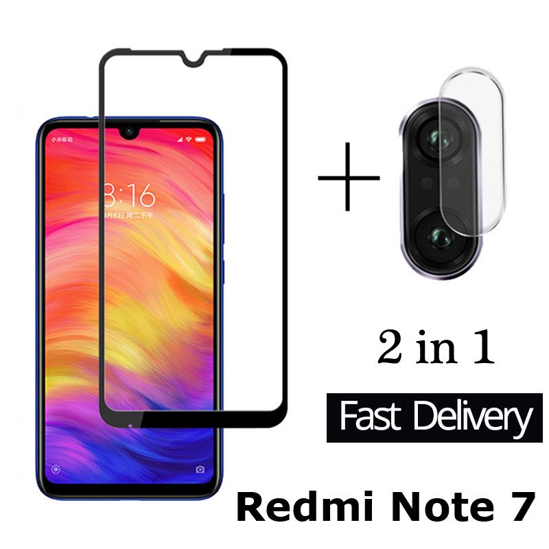 2 In 1 Xaomi Redmi Note 7 Camera Glass Protective On For Xiaomi Red Mi 7 Note7 7note 7not Not7 Safety Camera Film Xiami Lens