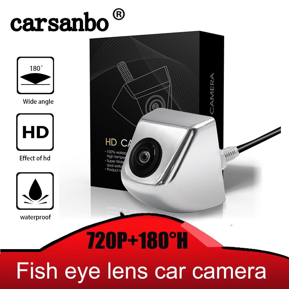 HD 180 Degree Fish Eye Lens Starlight Night Vision Vehicle Rear View Back Reverse Camera Low-light Level 15m Visible Car Camera