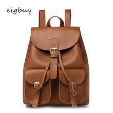 Girl Women japanese backpack bag Luxury Pu Solid Zipper Black Casual school bags for teenagers mochilas travel plecak