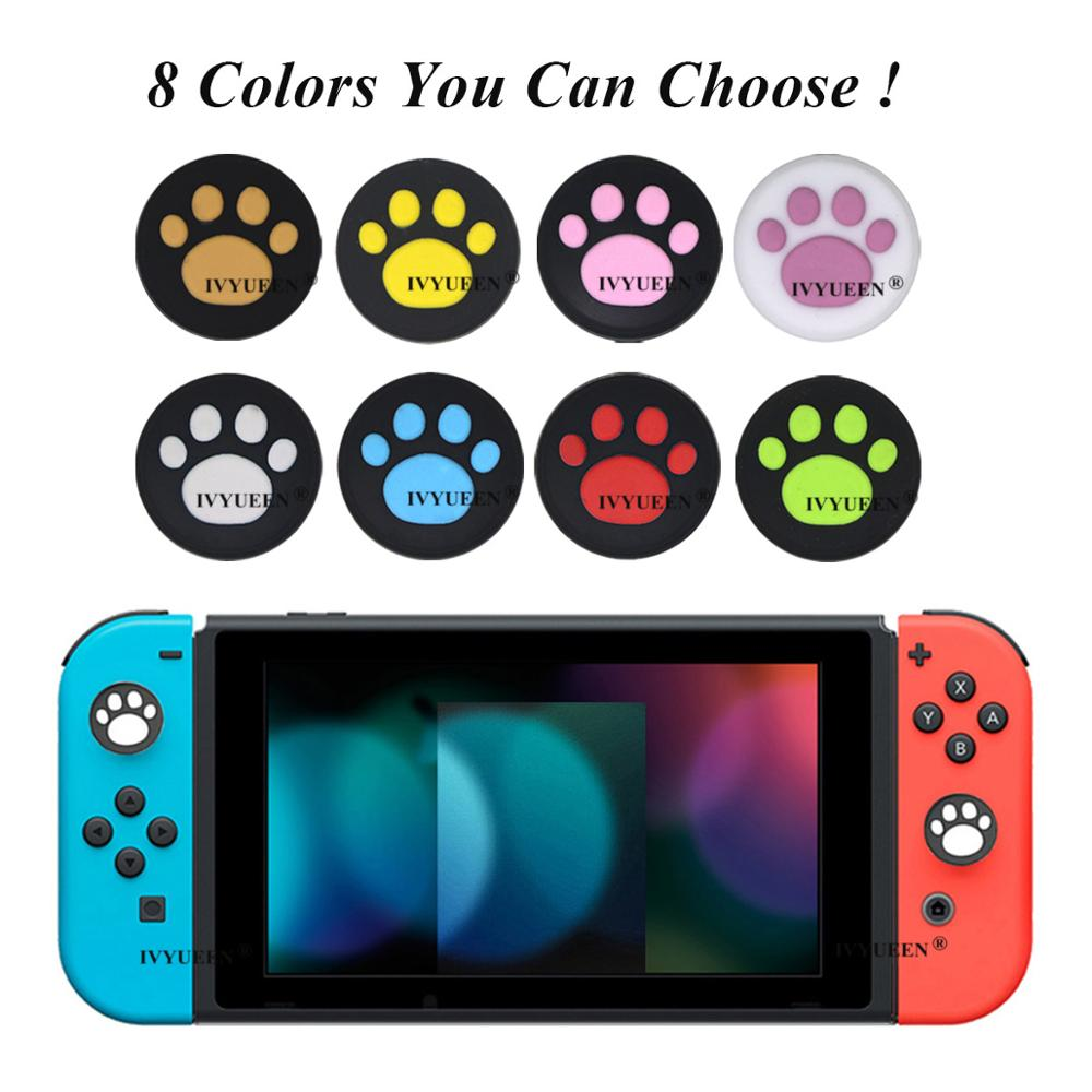 IVYUEEN 4 Pcs Thumb Grips Stick Cover For Nintend Switch NS Lite Joy-Con Analog Silicone Skin For Joy Con Joystick Caps