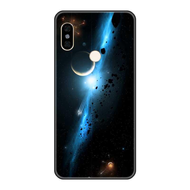 電話ケースシリコーン Xiaomi Redmi 注 6 プロ 5A プライム 5 4 4X 黒スターのための Pocophone f1 Redmi S2 6A 5 プラス 4A