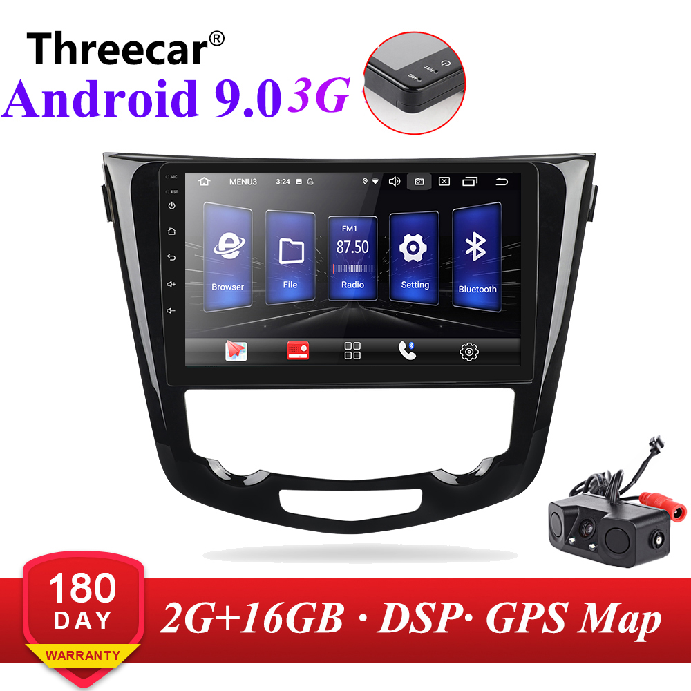 2din For Nissan X-Trail X Trail 3 T32 Qashqai 1 J10 2013-2017 Car Radio Multimedia Video Player Navigation GPS 3G Android 9.0 image