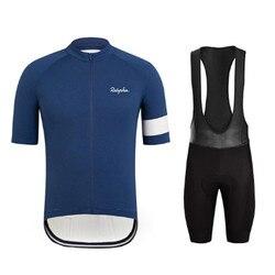 Raphaing 2019 Pro koszulka kolarska mężczyźni z krótkim rękawem ropa ciclismo hombre MTB oddychająca odzież rowerowa rowerowa odzież sportowa
