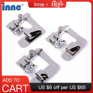 INNE Sewing Machine Accessories 3Pcs Foot Presser Attachment Material Press Feet Set For Rolled