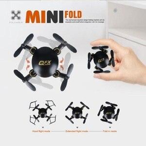 Image 2 - Q2 Mini Drone Wifi FPV RC katlanabilir Selfie ile kamera Drone 0.3MP kamera 2.4G tutum tutun RC cep oyuncak mini yarış quadcopter
