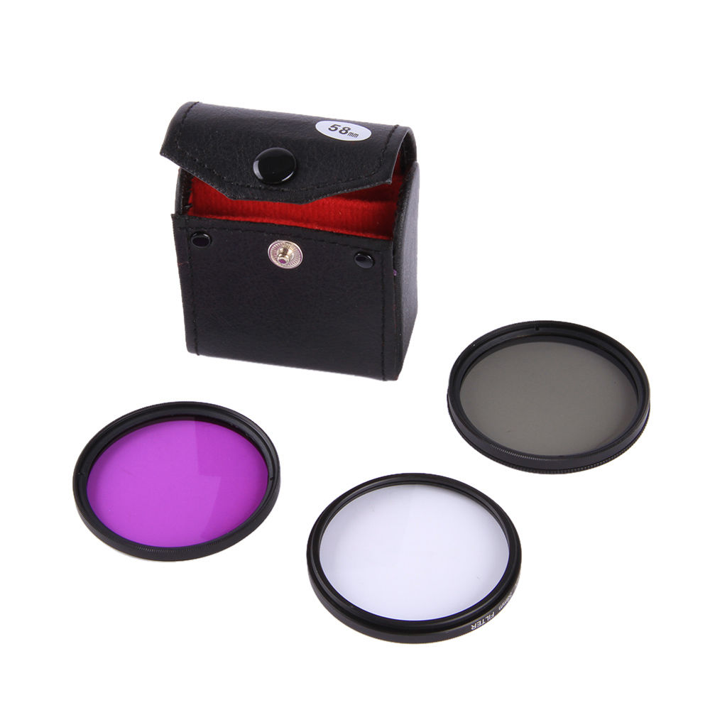 52mm UV FLD CPL Camera Lens Filter Kit set for Canon EOS M M1 M2 <font><b>M3</b></font> M5 M6 M10 M100 with for Canon EF-M 55-200mm / 18-<font><b>55mm</b></font> Lens image