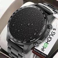 Volle kreis touch Smart Uhr Herz Rate Blutdruck Körper Temperatur Sport Fitness Luxus Uhren Bluetooth Anruf Smartwatch
