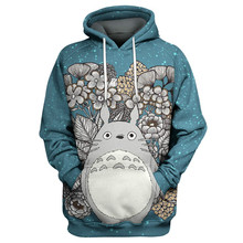 2020 nowych moda mężczyzna kobiet 3d bluza z kapturem mój sąsiad Totoro kwiat Anime bluzy z nadrukiem bluza kurtka Unisex casualowe w stylu streetwear tanie tanio CN (pochodzenie) Pełna Na co dzień REGULAR O-neck Brak STANDARD Poliester spandex NONE color as the picture Suitable for spring and autumn