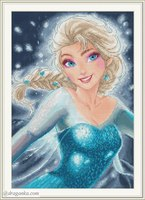 GG Gold Collection Counted Cross Stitch Kit Cross stitch RS cotton with cross stitch Merejka Frozen Dream Princess Aisha