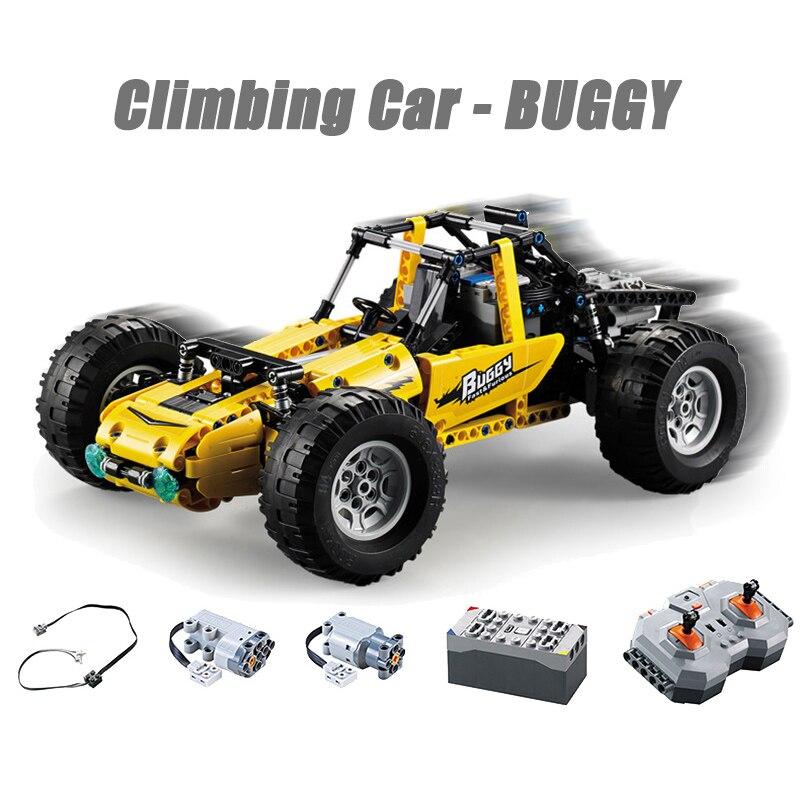 522 sztuk zdalnego sterowania Technic Building Blocks Buggy Off-Road pojazdu Stunt ciężarówka wyścigowa zestaw klocków samochodowych dzieci zabawki dla dzieci prezenty
