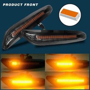 Image 5 - 2pcs עשן LED צד מרקר אור זורם מים מחוון הפעל אות אורות שגיאת משלוח עבור BMW E90 E91 E92 e93 E60 E87 E82 E61