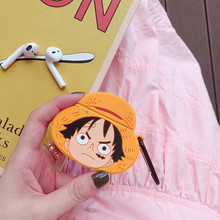 3D Cartoon One Piece Luffy Bluetooth Earphone Case for Airpods Cute Protective Cover 1 2 Accessories with Keychain