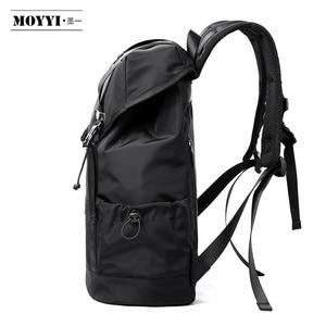 Image 3 - MOYYI 새로운 패션 남자 배낭 학교 가방 남자 여행 가방 대용량 여행 방수 14 15.6 인치 노트북 배낭