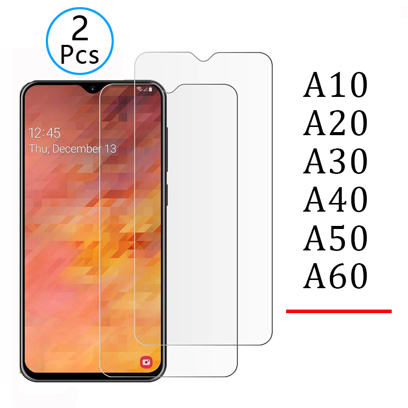 2pcs Tempered Glass For Samsung A10 A20 A30 A40 A50 A70 Protective Glas Screen Protector Safety Tremp On Galaxy A 10 20 30 40 50