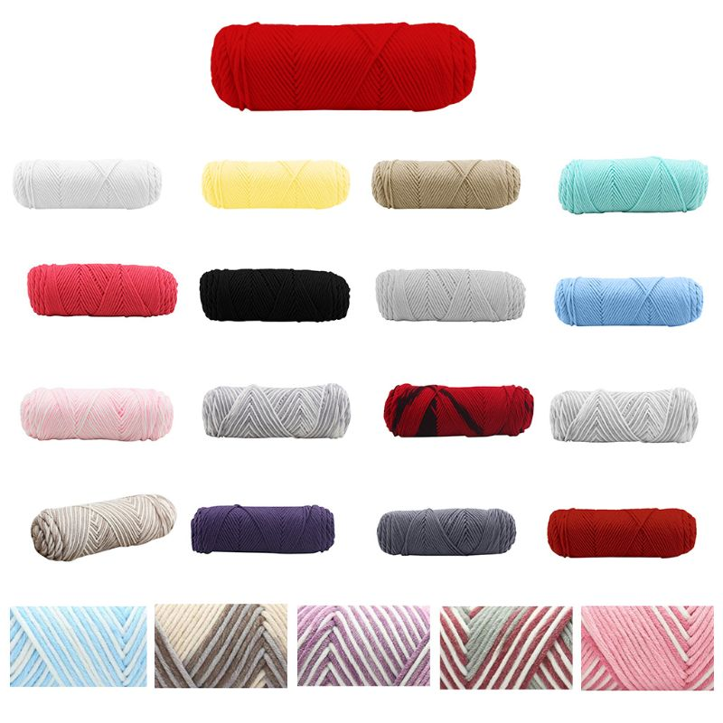 100g Milk Cotton Hand Knitting Yarn Thick 8 Strand Crochet Hand-Woven DIY Thread