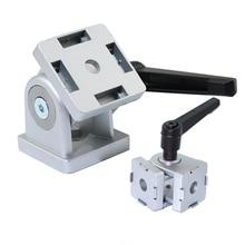 Zinc Alloy Flexible Pivot Joint Connector for Aluminum ExtrusionProfile 4545 Series Slot 8mm