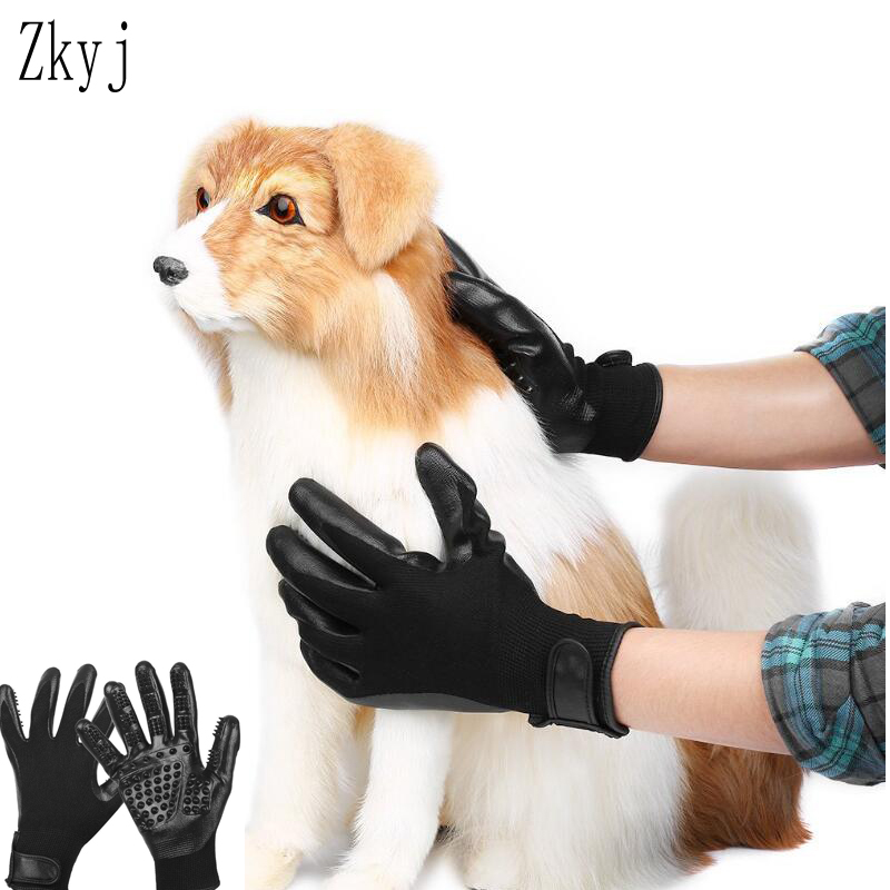 new Grooming Glove for Cats Soft Rubber Pet Hair Remover Dog Horse Cat Shedding Bathing Massage Brush Clean Comb for Animals
