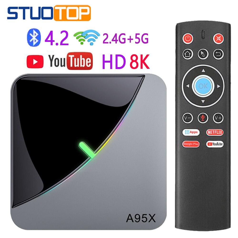 ТВ-приставка A95X F3 Air Smart, Android 9,0, четырехъядерный процессор amlogic S905X3, 2 ГБ, 16 ГБ, 32 ГБ, 4 ГБ, 64 ГБ, 8 k, ТВ-приставка 4 K, медиаплеер Netflix, Youtube