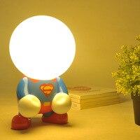LED Night Light Cute Turning Geek Ambience Light Cartoon Decoration Creative Superman Bedside Decoration Lamp Wholesale