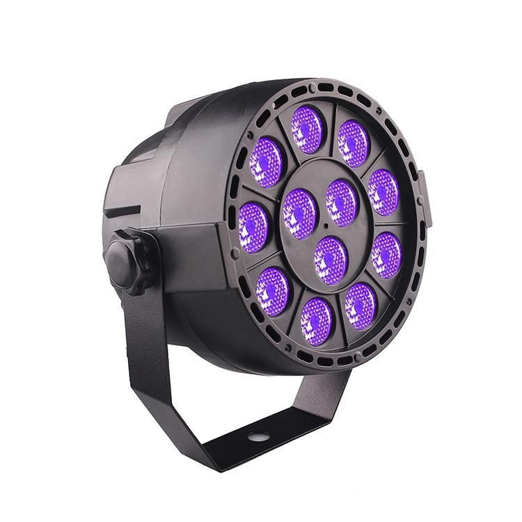 Violet Uv12 A Parabolic Aluminum Reflector KTV Bar Dyeing LED Beam Sound Music Stage Light Platform Electricity Supplier Selecti