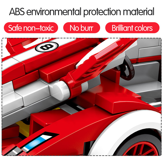 729pcs City Diy Racing Car Sports Vehicle Creator Building Blocks for  Technic MOC Bricks Assembly Model Toys for Boys