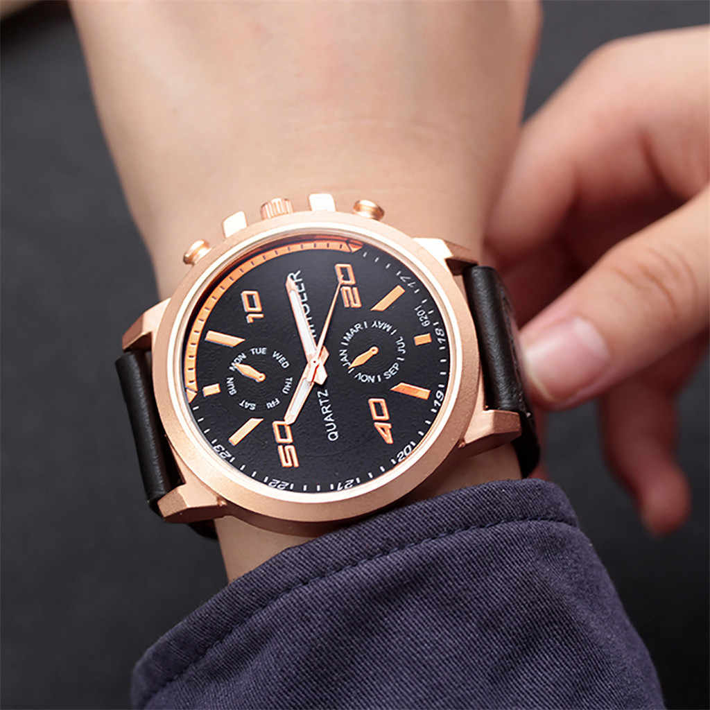 MIGEER High-End แฟชั่นผู้ชายสแตนเลสนาฬิกา Analog ควอตซ์นาฬิกา relogio masculino บุรุษนาฬิกายี่ห้อหรูหรา