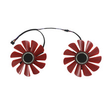2pcs/set FDC10U12S9-C CF9010H12S XFX RX480 RX570 GPU VGA Cooler Fan For HIS RX 570 RX470 Video Graphics Card Cooling As Replace