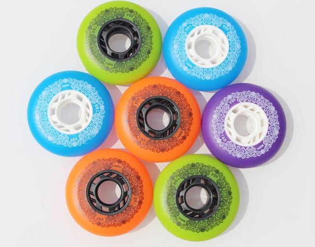 2019 haute qualité 8 pcs/lot 88A nouvelles roues de patin en polyuréthane Slalom/freinage patin à roulettes chaussures roues 72MM 76MM 80MM 4 couleurs