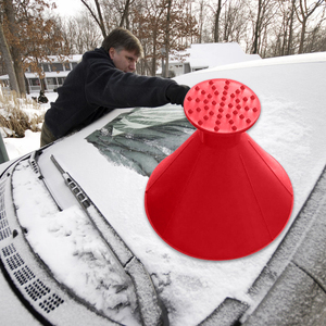 Auto Car Magic Cone-Shaped Windshield Ice Scraper Snow Shovel Tool Funnel Three-piece Suit Snow Remover Deicer Outdoor Deicing(China)
