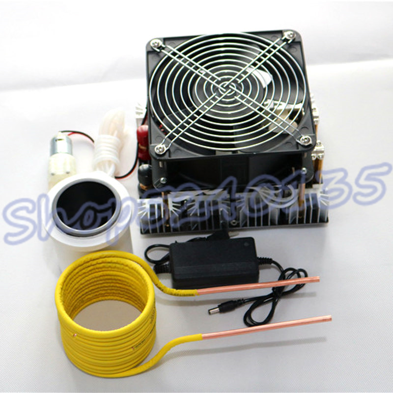 4000W ZVS Induction Heater High frequency Induction Heating PCB Board Melted Metal + Coil Mayitr+Pump+290 mL crucible|Magnetic Induction Heaters|   - title=