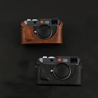 [VR] Genuine Leather Camera case For Leica M9P M9 M8 ME M E MM Camera Bag Handmade Real Leather Half Body Cover Skin