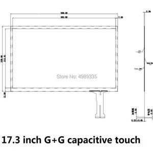 Image 2 - Pantalla táctil capacitiva de 17,3 pulgadas, estructura G + G, 398X238mmUSB, universal, punto de contacto, 16:9, para LC 173