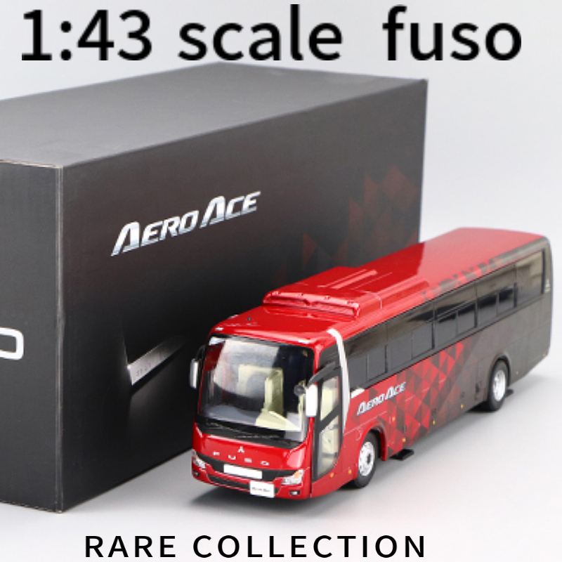 AERO ACE 1:43 SCALE  Japan MITSUBISH I  FUSO  BUS CORPORATION  CAR MODEL   RARE COLLECTION