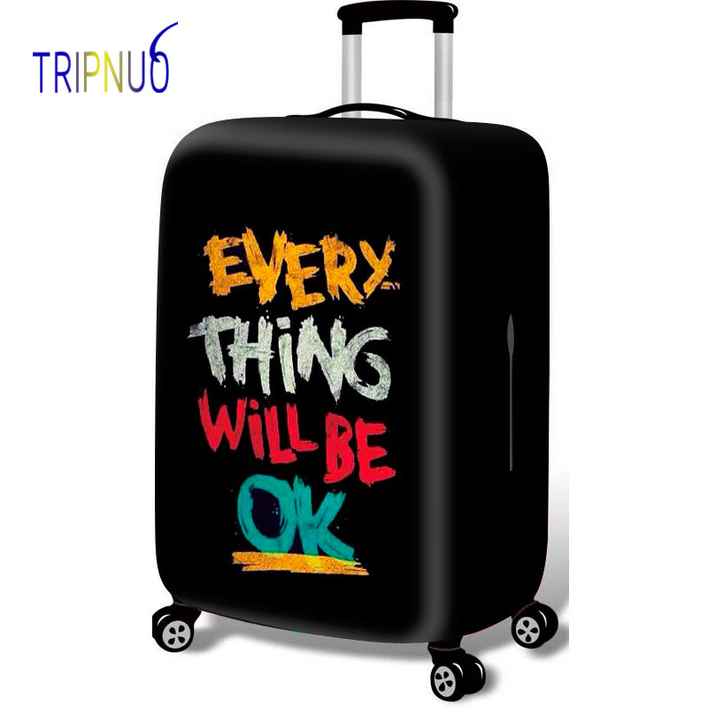 TRIPNUO Letter Luggage Protective Cover Apply 18-32 Inch Suitcase Case Covers Elastic Perfectly Travel Accessories