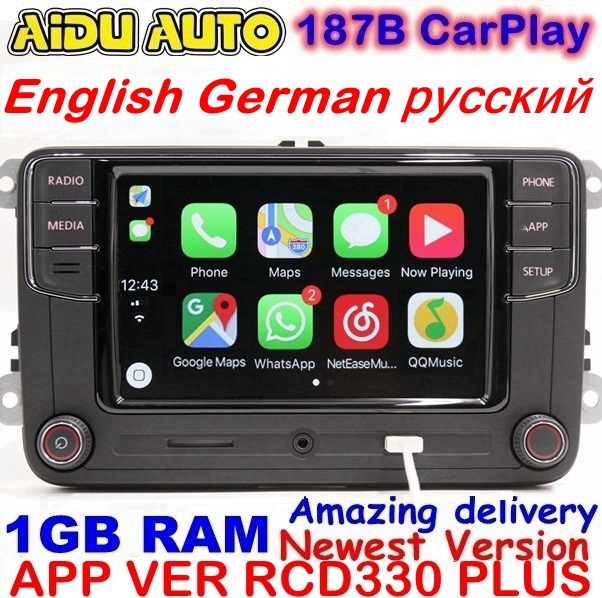 RCD330 Plus RCD330G Carplay Car MIB Radio 330G 6RD 035 187B For VW Golf 5 6 Jetta CC MK6 MK5 Tiguan Passat B6 B7 187B
