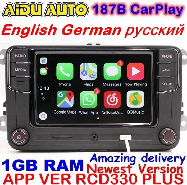 RCD330 Plus RCD330G Carplay Car MIB Radio 330G 6RD 035 187B For VW Golf 5 6 Jetta CC MK6 MK5 Tiguan Passat B6 B7 187B