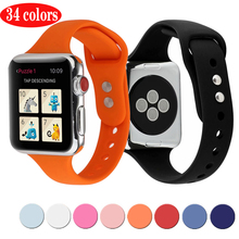Soft silicone Sports Band for Apple watch band  series 5 4 3 2 1 38MM 42MM Bands Rubber Wrist Bracelet Strap for iwatch 40/44mm camouflage soft silicone band for apple watch series 3 2 replaceable bracelet strap with adapter for iwatch 42mm 38mm bands