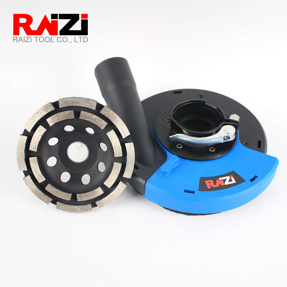 Raizi 125/180mm Angle Grinder Dust Shroud Cover Kit With Concrete Diamond Wheel Universal Surface Grinding Dust Collection Cover