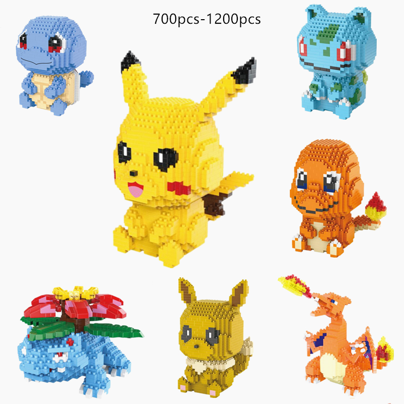 Pokemon Building Blocks Puzzle Girl Toy Pikachu Christmas Gift Boy Toy Pokémon Elf Assembly Decoration