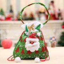 Милый Рождественский подарок сумки конфеты мешок Санта Клаус Снеговик Дизайн Подвески на рождественскую елку Детский Рождественский подарок конфеты сумки