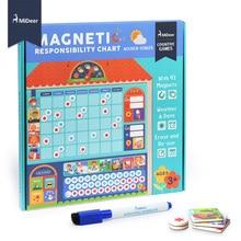 MiDeer деревянные магнитные награды деятельности диаграммы ответственности Календарь Дети расписание образовательные игрушки для детей целевой доска