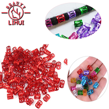 Mixed-Color Hair-Bead Braiding-Hole Micro-Ring Silver Red Gold for Dreadlocks 100pcs/Lot
