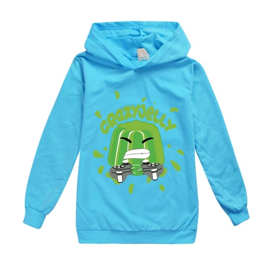 Baby Boys Thin Long Sleeve Kids Clothes Cartoon Jelly Youtube Print Hoodies Girl Costume Children Sweatshirts Top Tees 5
