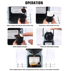 Image 5 - ICafilas 50 takım tek kullanımlık boş Nespresso ve yapışkan alüminyum kapakları mühürler için Nespresso kapsül DIY kendi kahve