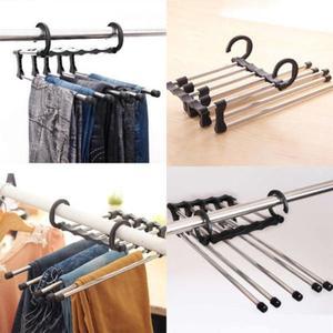Folding Pants Scarf Shawl Hanger Hook Rack Design Organizer Space Saving Hanger Multi-function Folding Magic Easy Folding Hanger