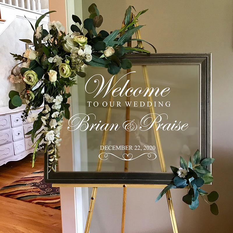 Custom Wedding Welcome Decals Personalized Wedding Wall Stickers Wine Glass Decals Wedding Anniversary Stickers For Car Shoe Cup
